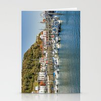 marina and the diamonds Stationery Cards featuring The Marina by TK Photography