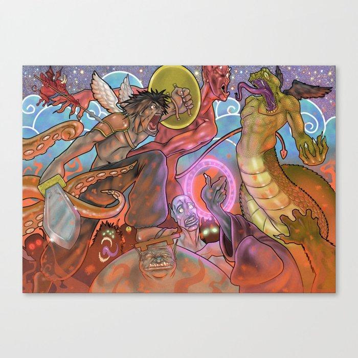 Battle for the heavens Canvas Print