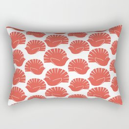 Block Cut Retro NZ Fantail Pattern Rectangular Pillow