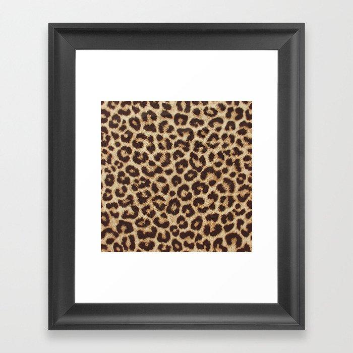 Leopard Print Gerahmter Kunstdruck