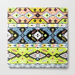 Boho Navajo Geometric Var. 21 Metal Print
