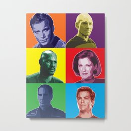 Star Trek Captains Poster Metal Print