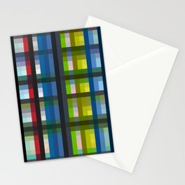 colorful striking retro grid pattern Nis Stationery Cards