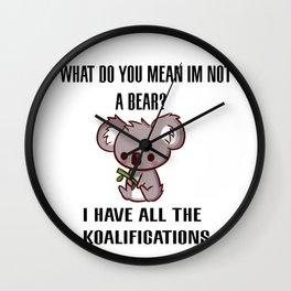 Kowala Bear Wall Clock
