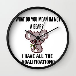 Kowala Bear Wall Clock