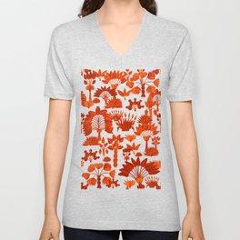 Exotic Garden - Orange Unisex V-Neck