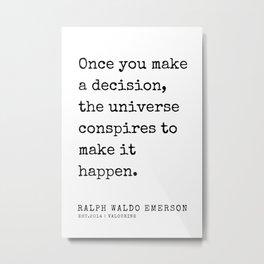 19  | Ralph Waldo Emerson Quotes | 200727 Metal Print