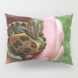 Baby red-eared slider turtle Pillow Sham