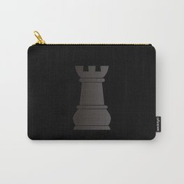 Black rock chess piece Carry-All Pouch