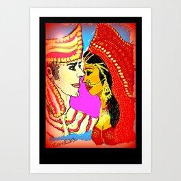 Flames of Love! Art Print