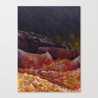 smaug Canvas Prints featuring Smaug  by Chiara Martinelli Creations