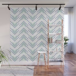 Sharp ZigZag Pattern Wall Mural