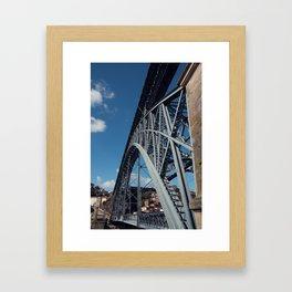 Dom Luís I Bridge in Porto (Portugal) Framed Art Print