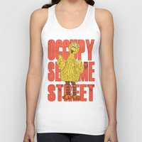 sesame street Tank Tops featuring OCCUPY SESAME STREET by perilpress