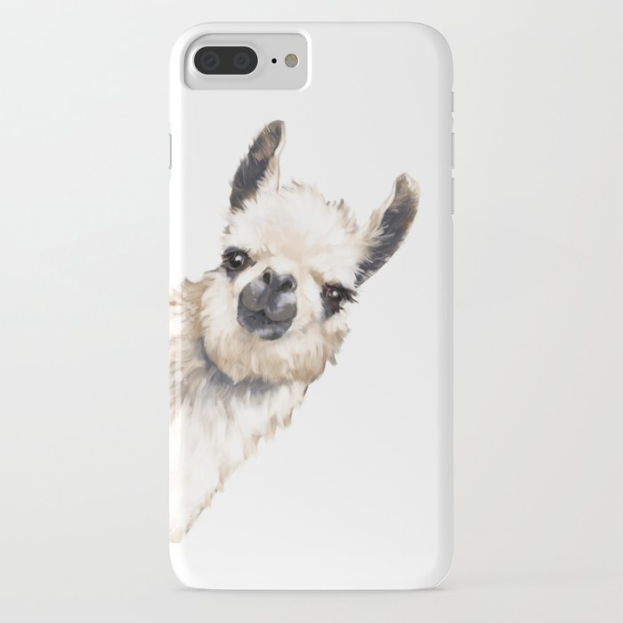 sneaky llama white iphone case