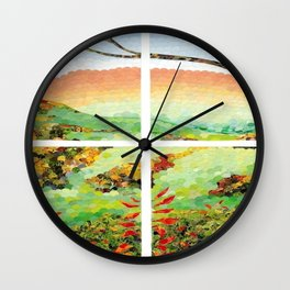 Window Pane Wall Clock