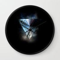 abyss Wall Clocks featuring Abyss by ujangajojing