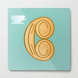 C for cool breakfast Metal Print