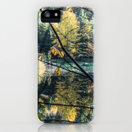 French lake in autumn iPhone Case