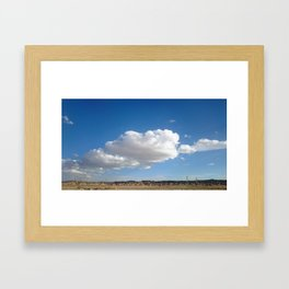 cloud photography Framed Art Print