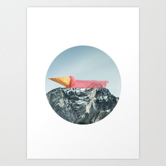 On the top Art Print