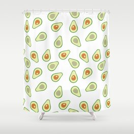 AVOCADO AVOCADOS FOOD PATTERN Shower Curtain
