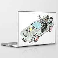 delorean Laptop & iPad Skins featuring The Delorean by Josh Ln