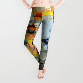 Abstract Art Using Brushes Leggings