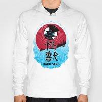 kaiju Hoodies featuring Kaiju Sake by zerobriant