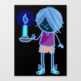 Boy with Candle Canvas Print