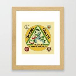Vintage Retro Camping Spring Gulch Wanderlust Framed Art Print