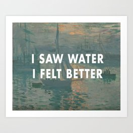 I Saw Water x French Sunrise Art Print