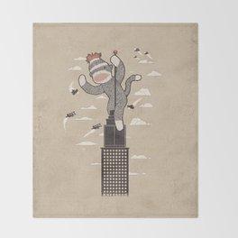 Sock Monkey Throw Blanket