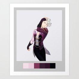 victor nikiforov palette Art Print