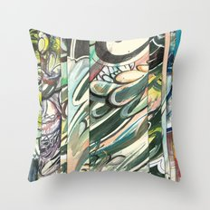 faded 3 Throw Pillow
