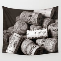 champagne Wall Tapestries featuring CHAMPAGNE CORK - Duplex by CAPTAINSILVA