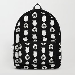 Alien Eggs Pattern Black and White Backpack