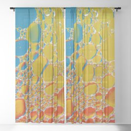 Bubbling Up Sheer Curtain
