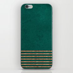 EMERALD COPPER GOLD BRASS STRIPES iPhone & iPod Skin