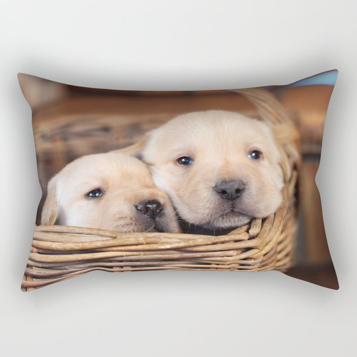 Puppies Labrador Retriever Rectangular Pillow