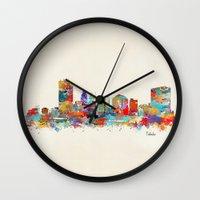 ohio Wall Clocks featuring toledo ohio  by bri.buckley