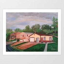Spike at the Lake House Art Print