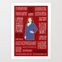Agent Carter - Scarlet Woman edition Art Print