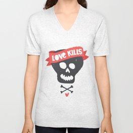 Love kills Unisex V-Neck