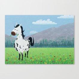 Spotty Horse Canvas Print