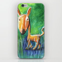 Roe Deer For Children Pastel Chalk Drawing iPhone Skin