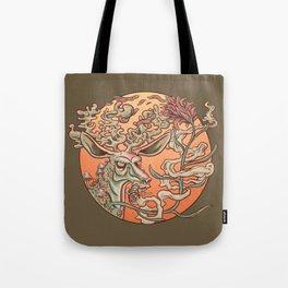 Deer Smoke & Indian Paintbrush Tote Bag