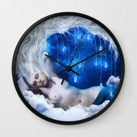 lunar Wall Clocks featuring Lunar Incantation by Diogo Verissimo