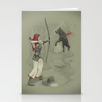 robin hood Stationery Cards featuring Little Red Robin Hood by Santo76