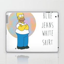 Homer S. (Blue Jeans, White Shirt) Laptop & iPad Skin